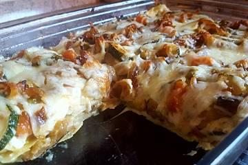 Lasagne ai funghi e zucchine
