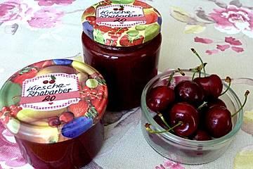 Kirsch-Rhabarber-Marmelade