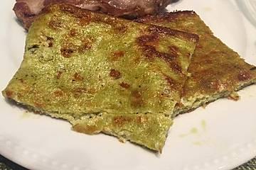 Low Carb Pesto-Blechkuchen