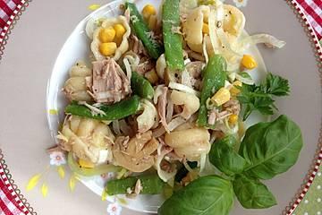 Italienischer Nudel-Mais-Thunfisch-Salat