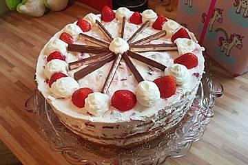 Yogurette-Torte - Erdbeertorte