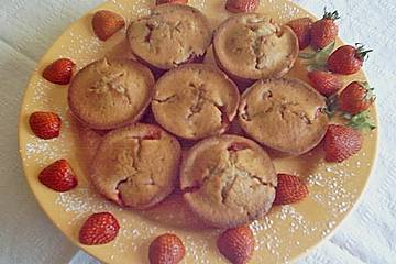 Bananen - Erdbeermuffins
