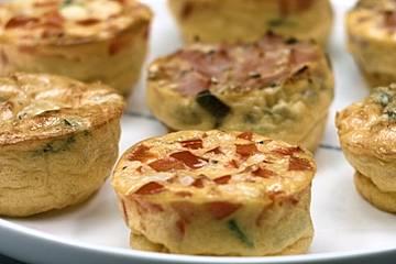 Omelette-Muffins mit dreierlei Füllung