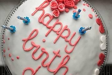 Torte zum Geburtstag