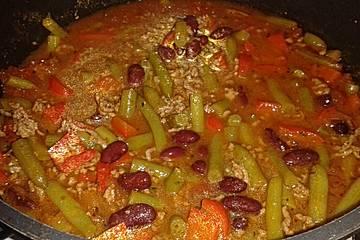 Grüne Bohnen Eintopf meets Chili con Carne