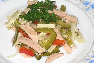Elsässer Wurstsalat mit Emmentaler