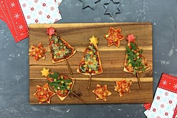 Pizza Tannenbaum.Pizza Weihnachtsbaum