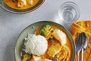 Fisch-Curry mit Brokkoli