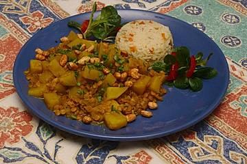Gelbe Bete-Linsen-Curry
