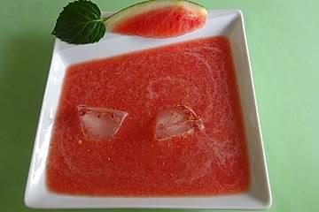Wassermelonensuppe mit Chili