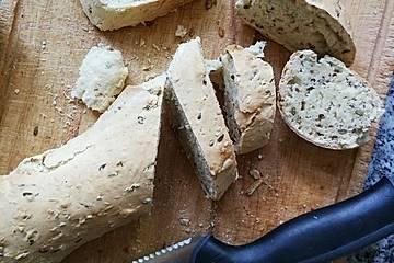 Dinkelbaguette ohne Hefe, mit Backpulver