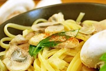 Vegetarische Champignon-Pasta