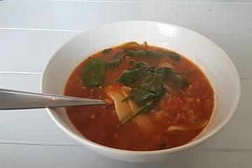 Vegane Lasagnesuppe