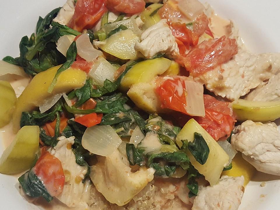 zitrus geflügelpfanne mit quinoa von ranva chefkoch