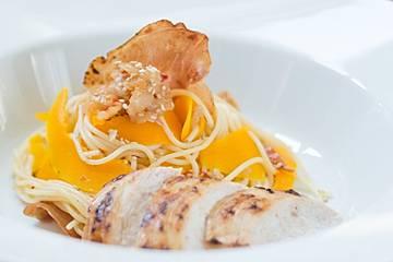 Schalottis Kürbs-Huhn-Spaghettini