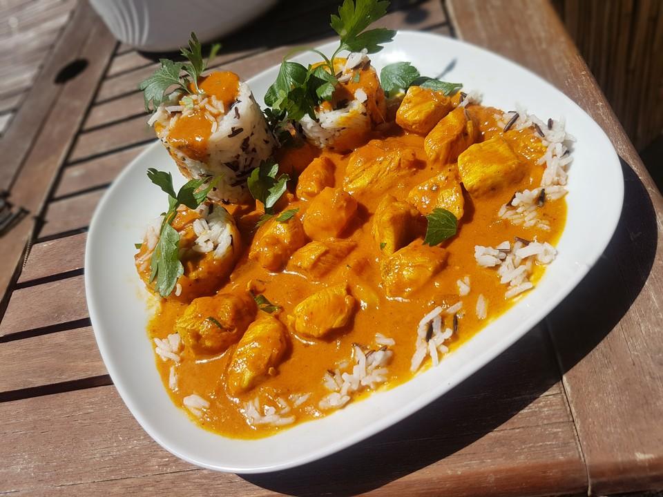 Indisches Chicken Mango Curry