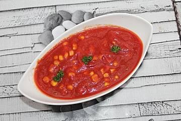 Mais-Tomaten-Suppe