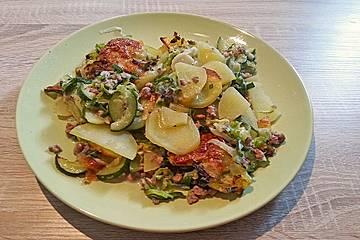 Kartoffel - Zucchini - Porree - Auflauf mit Hack