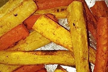 Karotten- und Pastinaken-Pommes
