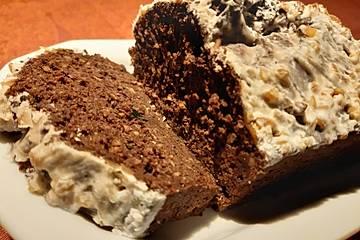Low-Carb Schoko-Nuss-Kuchen mit Guss
