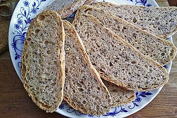 Dinkel - Leinsamen - Brot (Sauerteig)