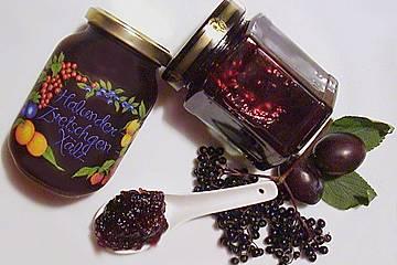 Holunder - Zwetschgen Marmelade
