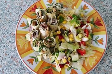Zucchini-Schinken-Röllchen überbacken
