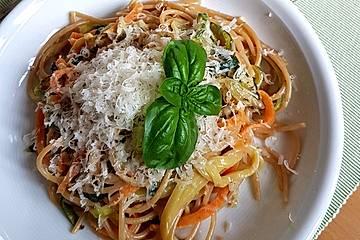 Brigittes vegetarische Frühlingsspaghetti