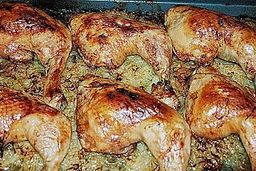 Hühnchen auf Sauerkraut