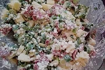Low carb Frischkäse-Salat