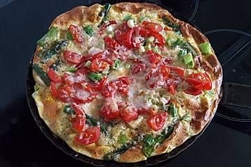 Spargel-Frittata mit Tomate und Parmesan