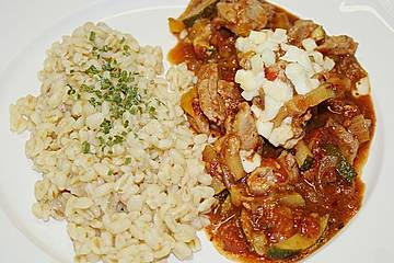 Zucchinipfanne - griechisch oder italienisch