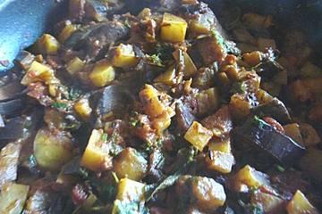 Auberginen-Kartoffel-Pfanne