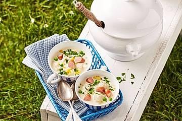 Blumenkohlsuppe mit Würstchen