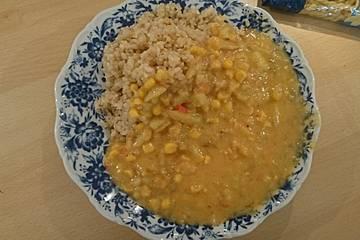 Kartoffel-Mais-Curry im Instant-Pot