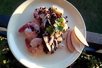 Thai-Linsensalat mit Crevetten