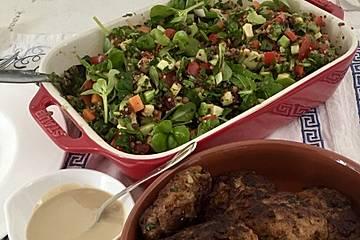 Lauwarmer Quinoa-Linsen-Salat