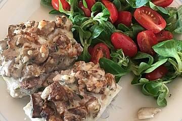 Fischfilet mit Champignon-Käse-Auflage