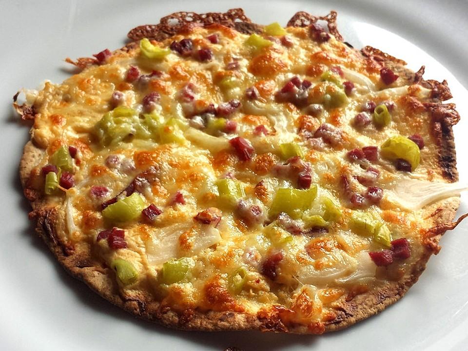 Tortilla Pizza Elsasser Art Von Laabertasche Chefkoch