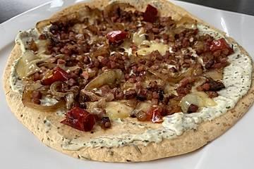 Tortilla-Pizza Elsässer Art