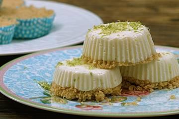 Limetten-Muffins gefrostet