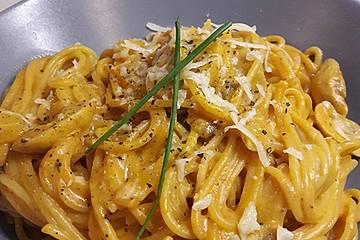 One-Pot-Spaghetti mit Champignons