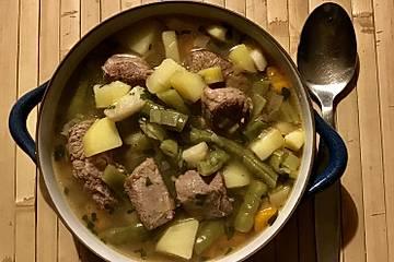 Lamm-Bohnen-Stew