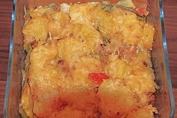 Kartoffel-Buschbohnen-Hackfleisch-Auflauf