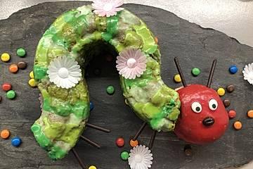 Raupe Nimmersatt - Kuchen für den Kindergeburtstag