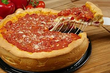 Chicago Style Deep Dish Stuffed Pizza