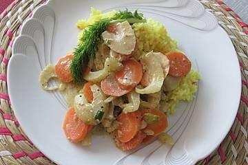 Low Carb Fenchel-Karotten-Gemüse