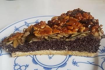 Mohnkuchen Sylter Art mit Bienenstichkruste