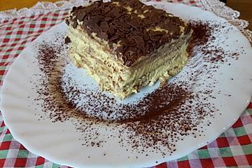 Dessert nach Art Tiramisu mit Ricotta