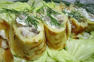 Matjespfannkuchen mit Grünzeug aus Fiefhusen